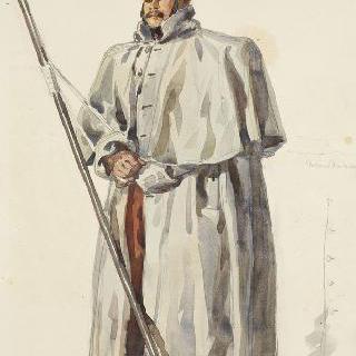 1859년경의 창기병들, 외투를 입은 정복 차림의 기병