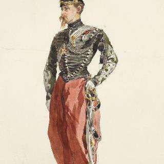 1859년경의 병사들, 정복을 입은 대위