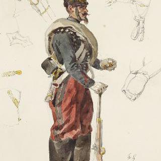 1859년 병사들, 원정대 복장의 일등병 기병