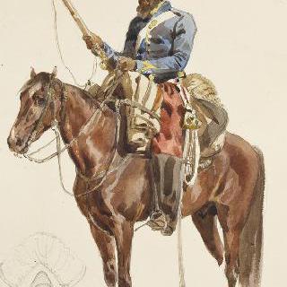 원정대 복장의 아프리카 병사