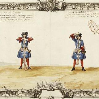 프랑스 수비병들의 무기 다루기