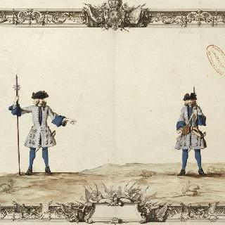 왕태자 연대의 중사와 병사