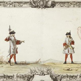 부플러 연대의 중사와 병사