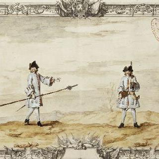 샹파뉴 연대의 장교와 병사