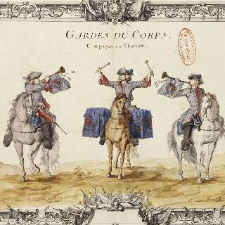 루아관의 샤로스트 부대 : 호위병들. 북치는 병사와 트럼펫 병사