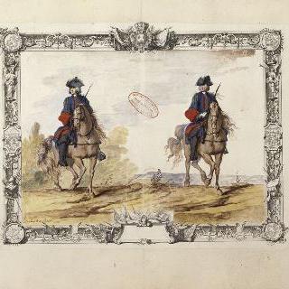 랑그독 연대 용기병들 : 칼을 든 용기병들