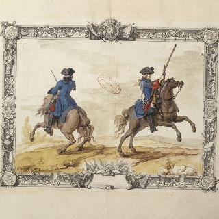 랑그독 연대 용기병들 : 칼과 총을 든 용기병들