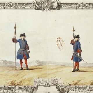 루아관의 노아이유 부대 : 창을 든 병사들