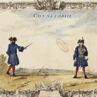 루아관의 원수직 : 대대장과 장총을 든 병사