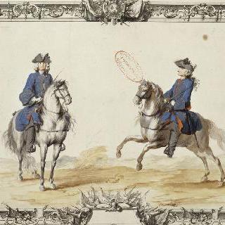 루아관의 원수직 : 말을 탄 병사들