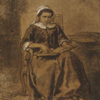 성경을 읽는 젊은 여인