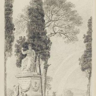 로마 빌라 네그로니의 정원의 전경