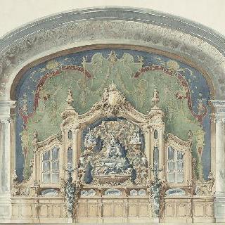 찬장 : 1898년 고드뵈프 상의 보자르 국립 미술학교의 콩쿠르 계획안