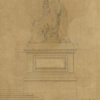 리옹 재판소, 낮은 층계의 받침중의 하나의 조각 습작