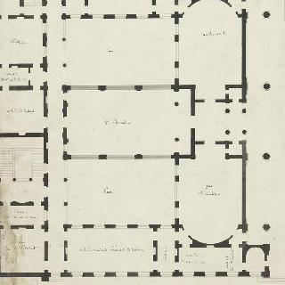 리옹 재판소, 1층 도면