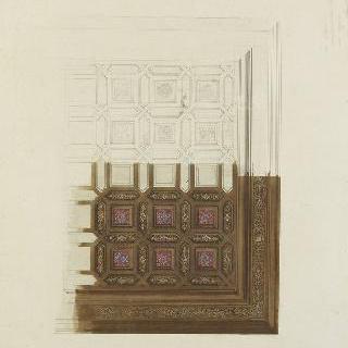 소묭 쉬르 루아르 성 (루아르 에 쉐르) : 천장의 판자 장식