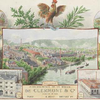 1826년 세워진 클레르몽 회사 건물들을 위한 광고 계획안