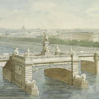 1884년 콩코드 다리 위의 감베타 기념물 계획안