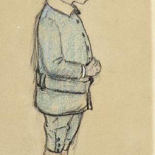 청년 퐁탈리랑의 우측 측면 초상