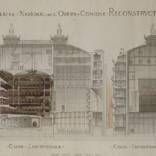 파리 희극 오페라의 재건축 계획안 : 횡단면과 종단면