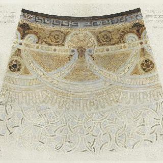 오스만 대로의 소시에테 제네랄 은행의 그랜드 홀의 모자이크 형태의 포석 공사 계획안
