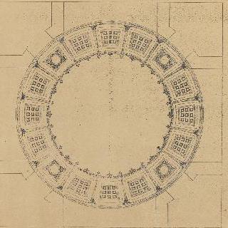 격자 원형 천장의 장식 계획안