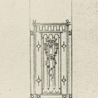 승강기 문 철책의 계획안