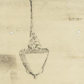 잎 장식의 벽등