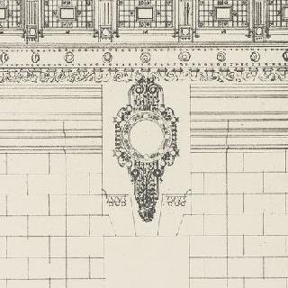 정면 장식 : 철책과 쇠로 된 난간