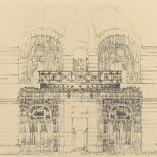 쇠로 된 계단석이 있는 홀의 건설
