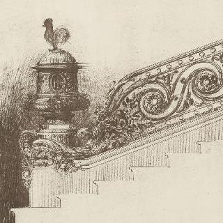 계단의 난간 기둥