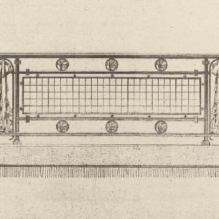 철로 된 난간 계획안