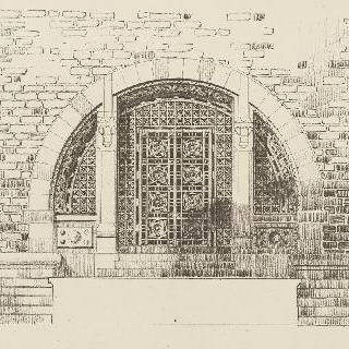 아치형의 기념 철문의 계획안