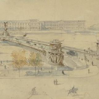 카루젤 입구 맞은 편 센 강 승리의 다리 계획안