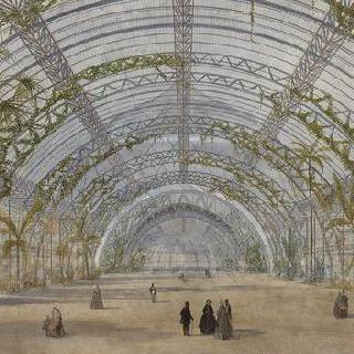 생 클로드 공원의 크리스탈 왕궁 계획안 : 내부 전경