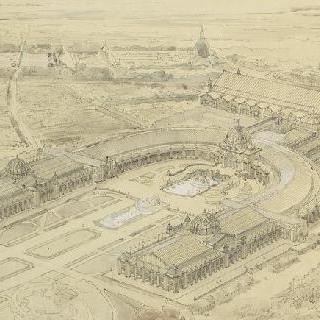 1901년 만국 박람회에 대한 계획안 : 샹 드 마르스 정경