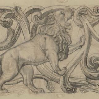1900년 만국 박람회 : 루마니아 황실관 : 장식 모티브, 사자와 당초문