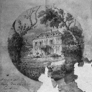다빌리에르의 가옥 (오본, 발두아즈) : 정원쪽 정면