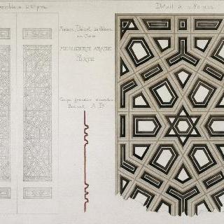 카이로의 들로르 드 글레옹 가옥, 아랍 목공 세공품, 문