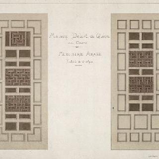 카이로의 들로르 드 글레옹 가옥, 아랍 목공 세공품