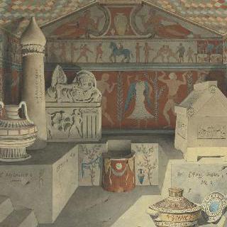 고대 구성 : 에트루리아 무덤 내부