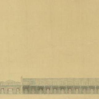 1900년 세계 박람회 계획안, 마르스 광장의 기념물의 종단면