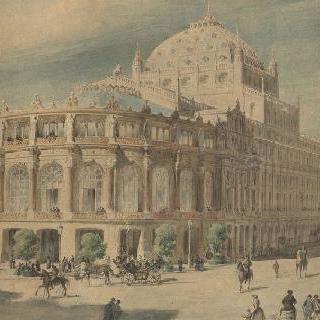 파리 시청의 오페라 극장 계획안