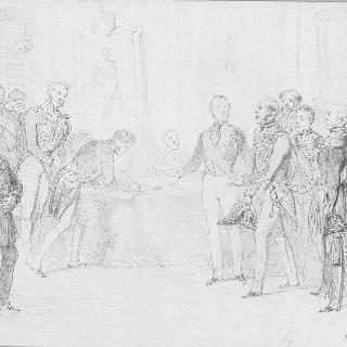 파리 평화 조약의 서명 (1856년 3월 30일 튈르리궁)