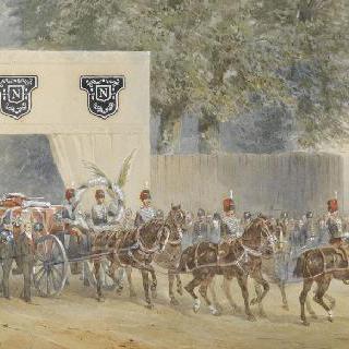 캠덴 광장을 떠나는 황태자의 장례 행렬