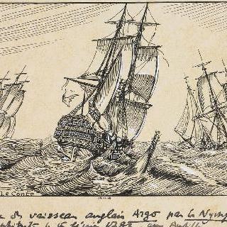 요정호와 앙피트리테호가 탈환한 영국 군함 아르고