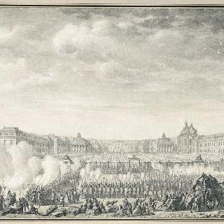 1789년 10월 6일 가족과 함께 파리에 도착한 왕