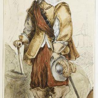 루이 13세 시대의 의복을 입은 수염난 신사