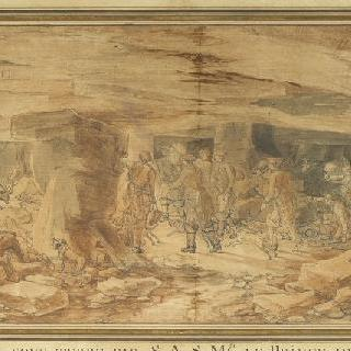 1774년 4월 4일 사슴을 함정에 빠트린 사슴 사냥꾼 콩데 왕자의 함성