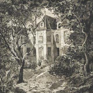 7부대 사령부의 오말 공작이 거처하는 브장송의 사단장 관저, 1876년.